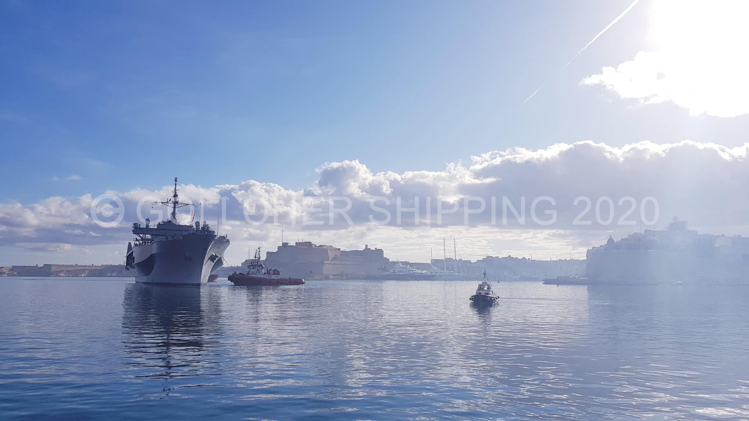 Shipping Agent Award For USS Mt. Whitney Port Visit In Malta